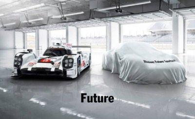 Debajo de esa sábana está el nuevo superdeportivo de Porsche