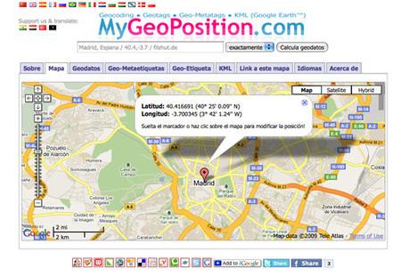 Mygeoposition: La latitud y longitud de cualquier lugar del mundo