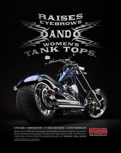 Big Dog Motorcycles, otra de publicidad con mensaje