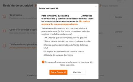 Eliminar Cuenta Xiaomi