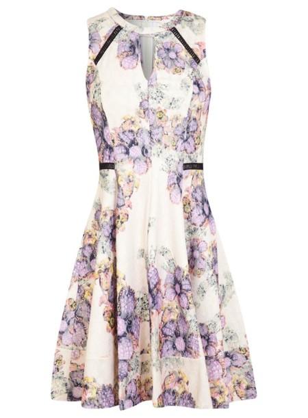 vestido flores y encaje de missselfridge