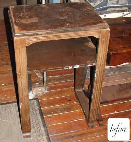 El mueble antes de pasar por el taller de Liz.