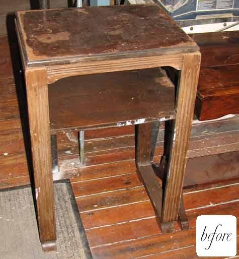 Antes y despu s un mueble viejo que florece for Como restaurar un mueble viejo