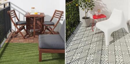 Fáciles de instalar, y sin obras. Dale un nuevo aire a tu terraza, balcón o jardín con estos suelos de exterior de Ikea
