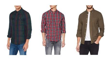 Ofertas en tallas sueltas de camisas para hombre Napapijri, Wrangler o Hackett por menos de 25 euros en Amazon