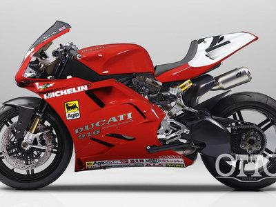 Alucina, así sería una Ducati 1299 Superleggera vestida de TT2, 916 o Supermono