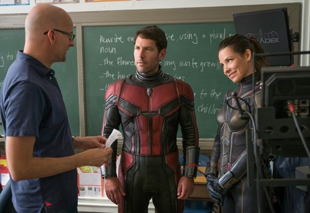 Peyton Reed, Paul Rudd y Evangeline Lilly