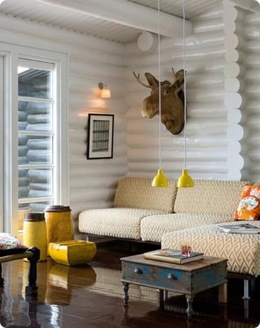 Puertas abiertas: un rincón alpino en blanco