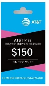AT&T Sim Card Trio (150 Pesos) Prepago