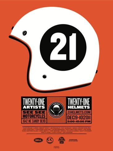 21 cascos para 21 artistas