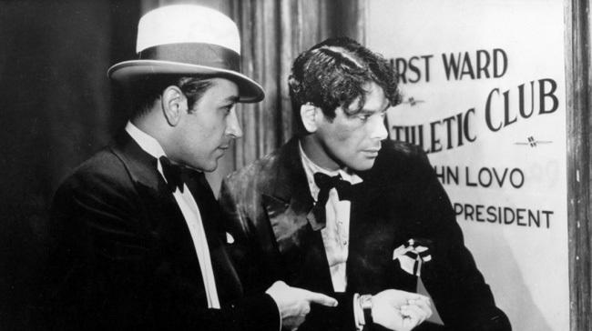 George Raft y Paul Muni en 'Scarface'.