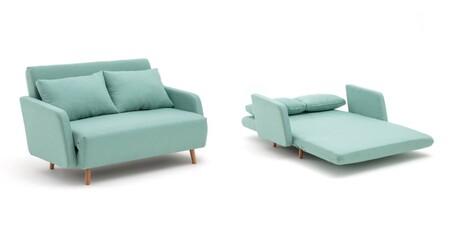 Sofa Cama De Tejido Texturizado De 2 Plazas Cosico 2
