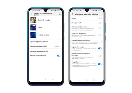 Huawei P Smart 2019 Ajustes Pantalla Otros