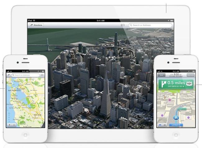 Apple iOS 6 mapas