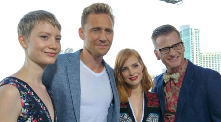 Mia Wasikowska, Tom Hiddleston y Jessica Chastain en la Comic-Con