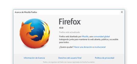 Mozilla lanza oficialmente Firefox 43, y Windows por fin estrena versión de 64 bits