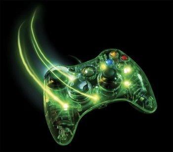 Mandos transparentes y coloridos para Xbox 360
