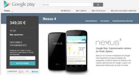 El caos invade Play Store y Google agota el Nexus 4 en media hora [ACTUALIZADO]