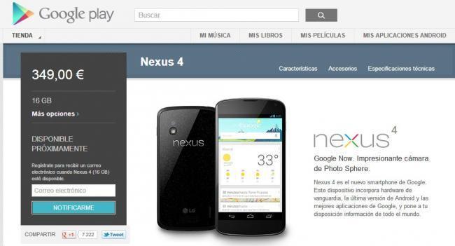 Nexus 4 Agotado
