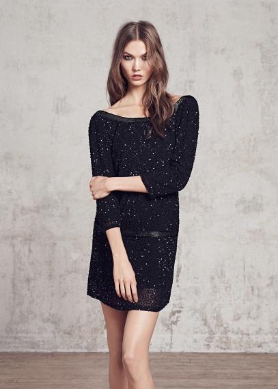 Vestido negro de Blanco