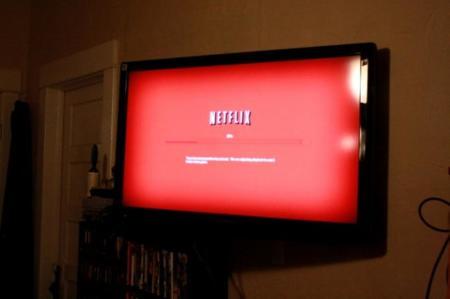 Netflix en una pantalla