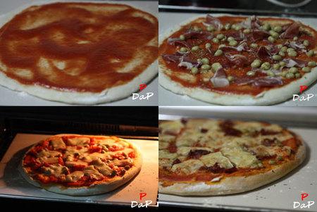 Hacer pizza a la piedra