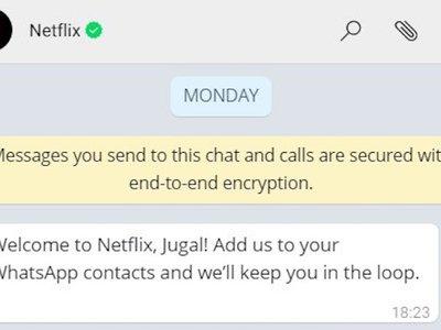 Las recomendaciones de Netflix pronto llegarán por una nueva vía: WhatsApp