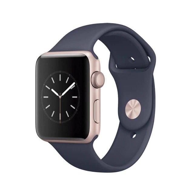 APPLE Apple Watch Series 2 caja de 42 mm aluminio en oro rosa y correa deportiva azul noche
