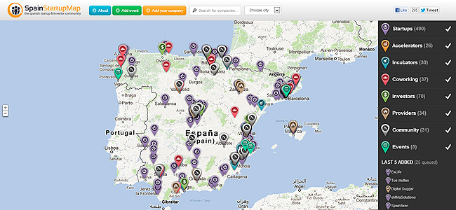 Spain Startup Map