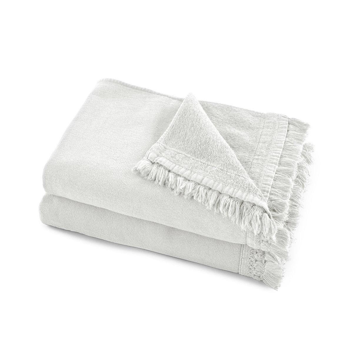 Lote de 2 toallas de lavabo de algodón/lino Kiramy