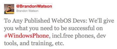 Microsoft quiere atraer a los desarrolladores de WebOS
