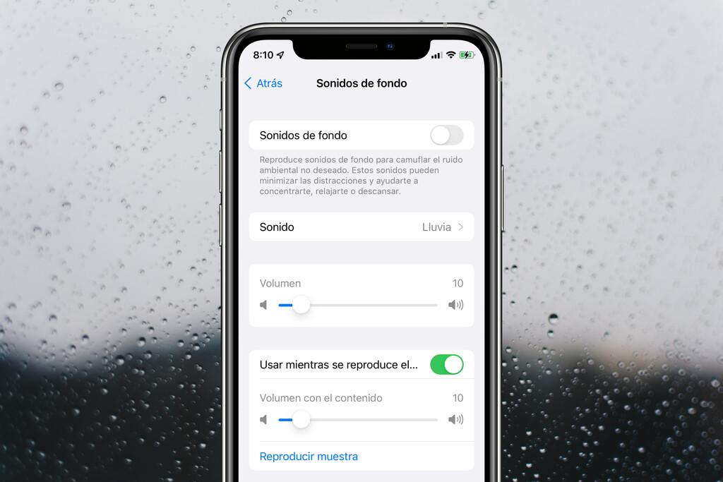 Ruido rosa, marrón o de lluvia, qué son y cómo usar los sonidos de fondo de iOS 15