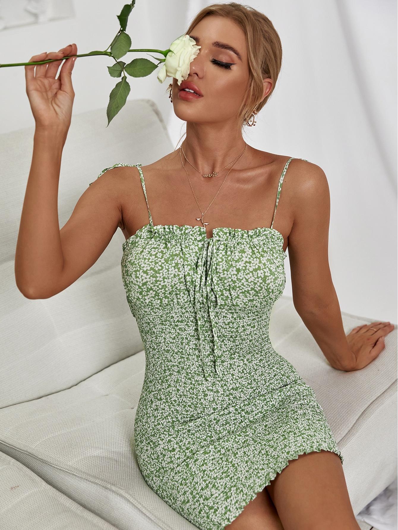 Vestido Nudo floral de margarita Bohemio