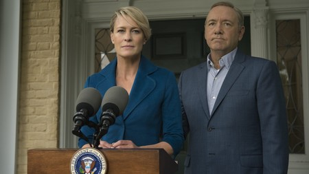 Robin Wright y Kevin Spacey en House Of Cards