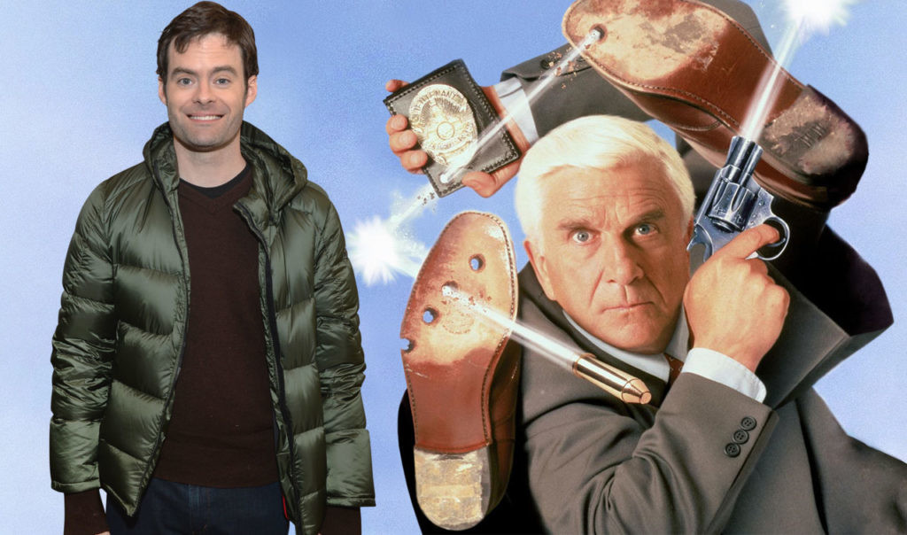 'grab it as you can' has a reboot in progress: Bill Hader is the son of Frank Drebin