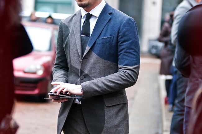 Street-style traje combinado