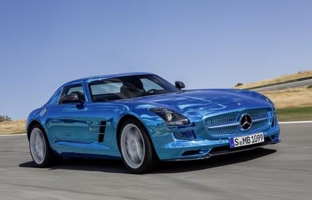 Mercedes-Benz SLS AMG Electric Drive azul eléctrico