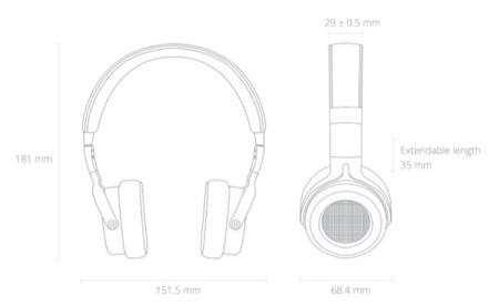 Dimensiones de los auriculares