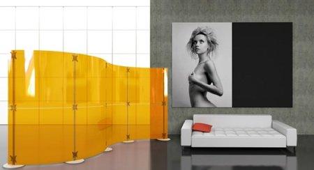 Fluowall, separadores de espacios de diseño