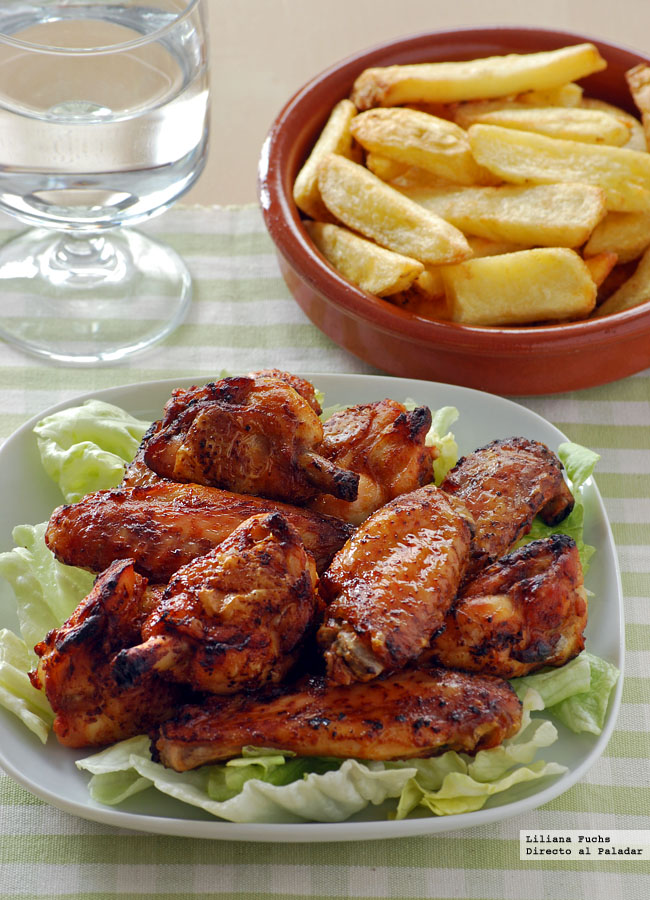 Alitas de pollo al horno con salsa harissa receta - Recetas merienda cena informal ...