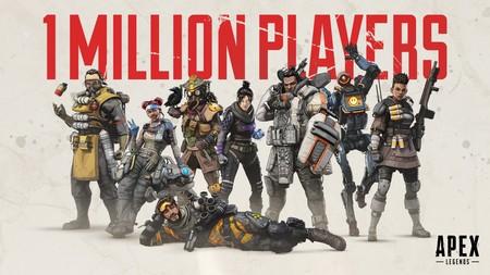 Apex Legends ha registrado a más de un millón de jugadores en sus ocho primeras horas