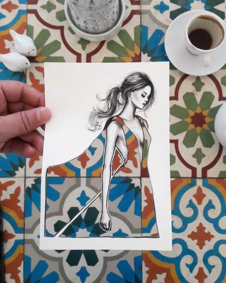 Blanco y negro, degradados, contrastes... Estas imágenes son el mejor ejemplo de la importancia del estampado en la moda