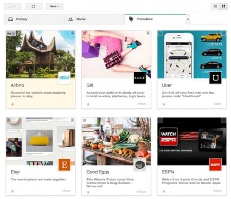 Gmail cambia su pestaña de 'promociones' para parecerse a un mercadillo