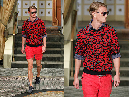 michael bastian ss 2014 red look