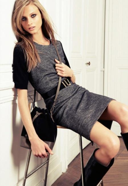 Claves de estilo para ir de shopping: el vestido gris, un básico en tu armario