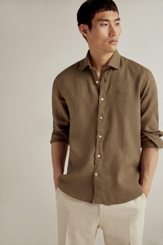 Camisa manga larga 100% lino