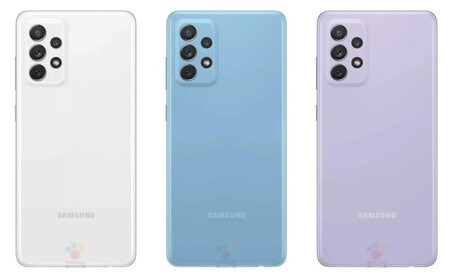 La espalda del Galaxy A72