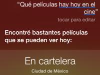 Siri ya sabe qué películas hay en los cines de México