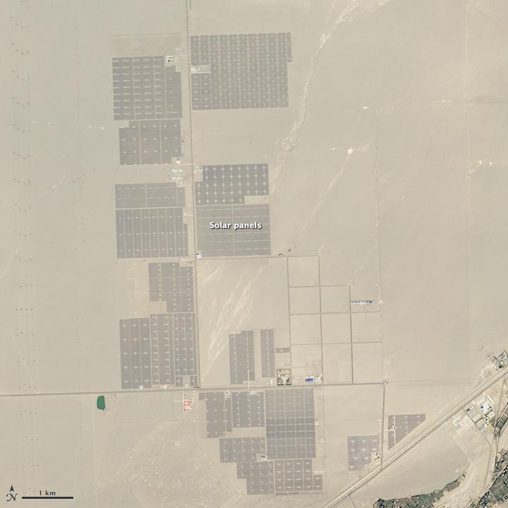 China comienza la construcción de un inmenso campo solar en el desierto del Gobi