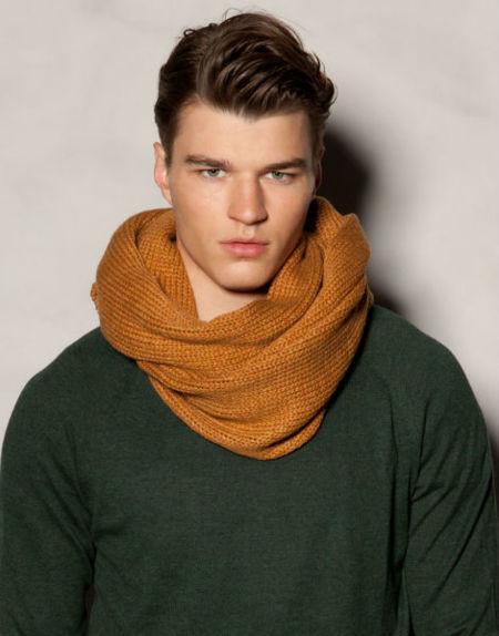 Moda para hombres: al calor de la bufanda en invierno